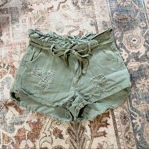 Vici Dance & Marvel Olive paperbag shorts